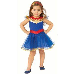 Captain Marvel Tutu Dress Costume Sz 3T/4T NWT